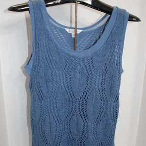 NWT Charming Charlie Blue Knit Layered Top